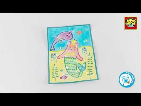 SES - Aqualine glitter cards