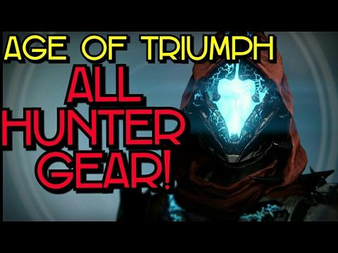 all hunter gear | age of triumph | destiny - youtube