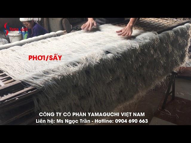 Máy đùn miến dong Yamaguchi VN. Máy ép miến dong công suất lớn