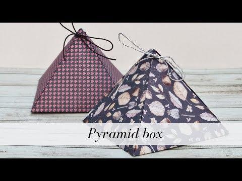Pyramid box tutorial / Gift wrapping (4)