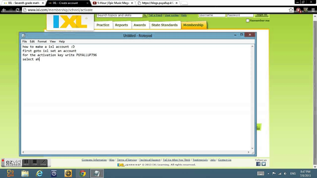 NOT WORKING) ixl activation key creat an account(Not working) - YouTube