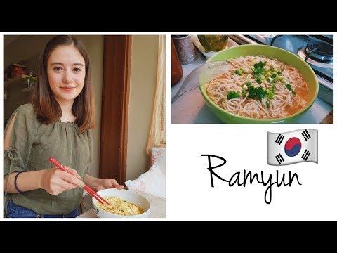 Kore usulü Ramyun 라면 Yapımı | Kore Yemeği Yapma Yarışması 2018