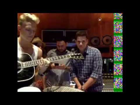 Cody Simpson ustream in the studio with scooter braun, dan kanter, matt graham and justin stirling