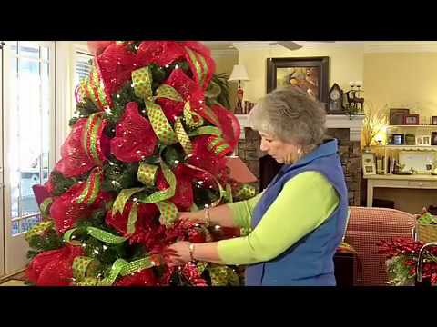 deco mesh christmas tree video tutorial - How To Decorate A Christmas Tree With Deco Mesh