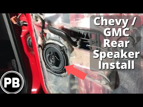 1999 2006 Rear Door Speaker Install Suburban Tahoe Yukon Avalanche Silverado Youtube