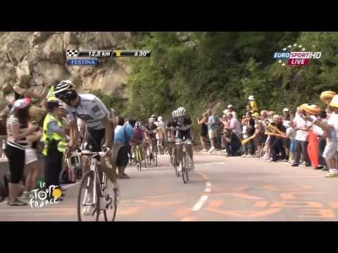Contador on L'Alpe d'Huez — TDF2011 #19