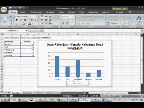 Diagram Batang Dengan Excel - YouTube