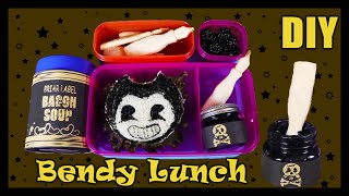 How to Make a Bendy and The Ink Machine Custom Lunch - DIY Food Art