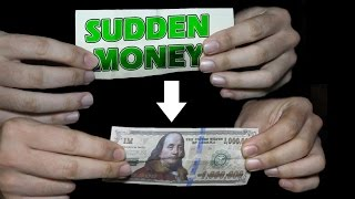Magic with money for beginners 💥 - Sudden Money