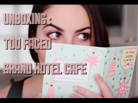 UNBOXING (+ SWATCHES) : Too Faced Grand Hotel Cafe Holiday 2016 Collection