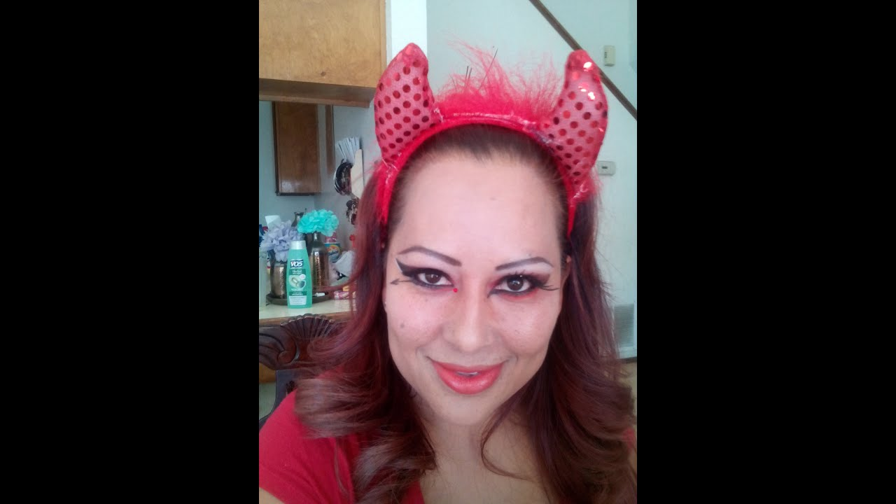 Maquillaje De Diabla(video2 O Segunda Opcion)Devil Makeup