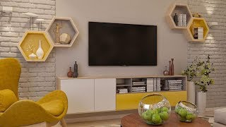Modern TV  Wall Mount Stand Decoration Ideas / modern TV stand 2019