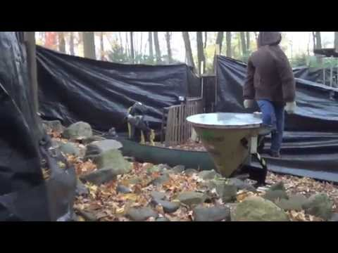 How to set up cheap outdoor halloween haunted house part 1 for Diy haunted house walls