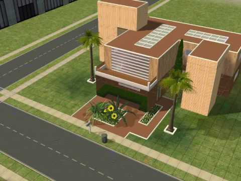 Big Brown Modern House Sims 2 YouTube