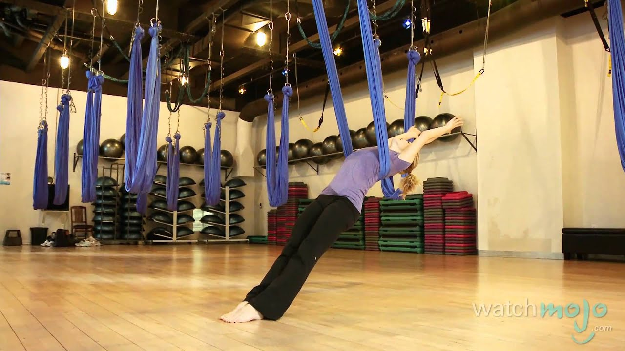 Antigravity Yoga Technique And Impressive Poses Youtube