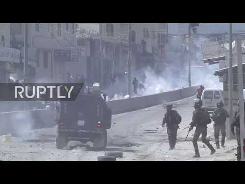 State Of Palestine: Israeli Forces And Protesters Clash In Ramallah