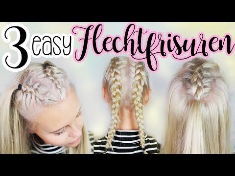 3 Easy Flechtfrisuren Mit Meiner Cousine Dagi Bee Youtube