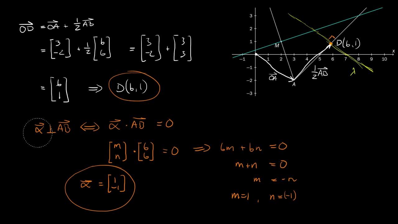1.6d - Vektorregning, parameterfremstilling, skjæring (Del 1, R1 Eksamen, Høst 2017)