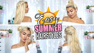 CUTE & EASY HAIRSTYLES FOR SUMMER! ☀