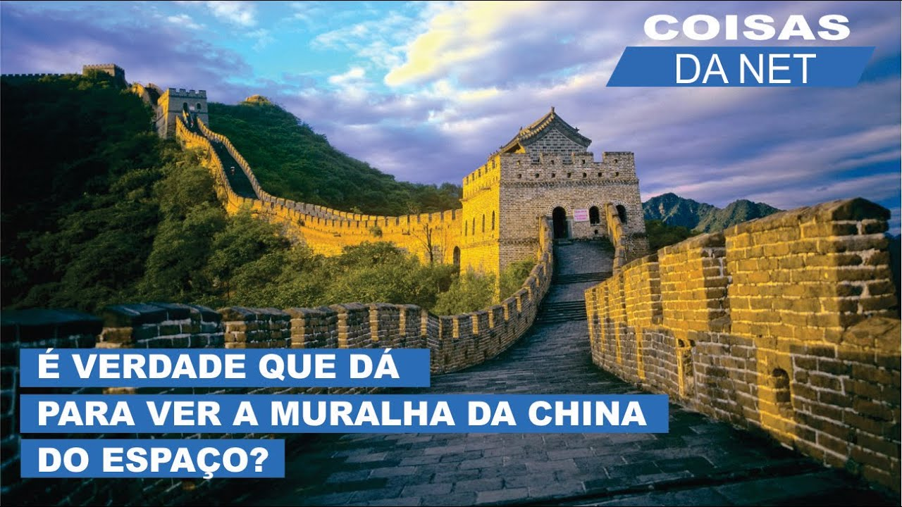 D pra ver a muralha da china do espa o youtube for A muralha da china vista da lua