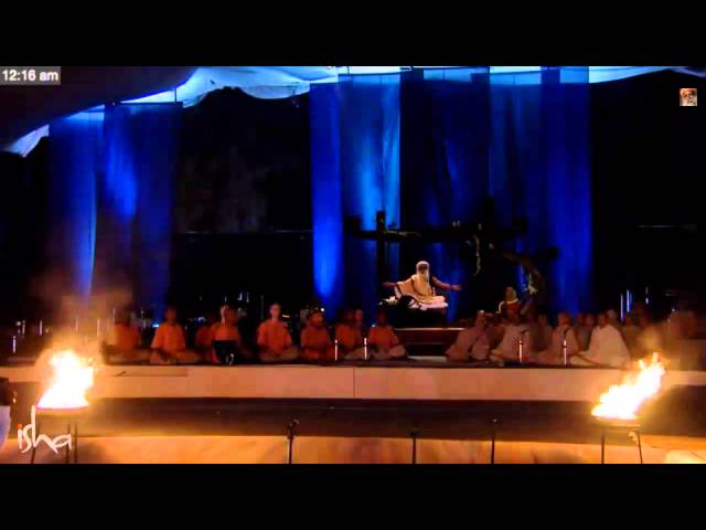 Mahashivarathri Rare Sathsang With Sadhguru Chanting Maha Mantra 2015