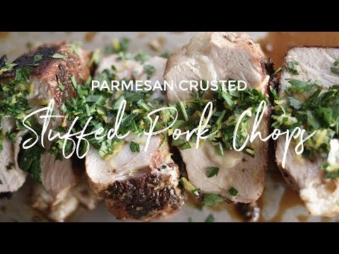 Parmesan Crusted Stuffed Pork Chops