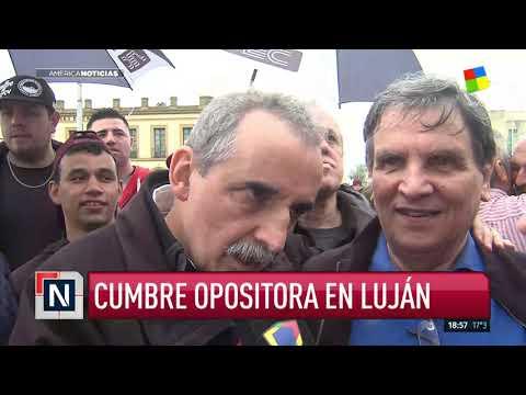 Movilización y misa: cumbre opositora en Luján
