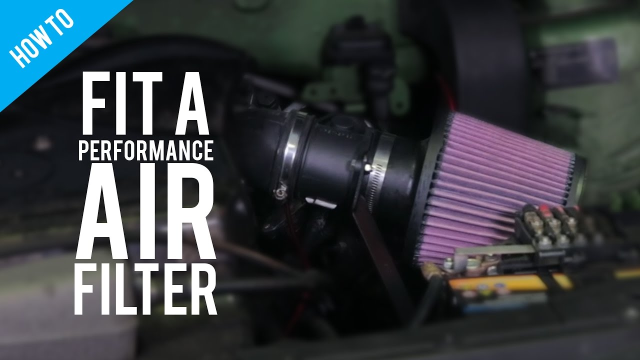 How To Fit A Performance Air Filter Youtube