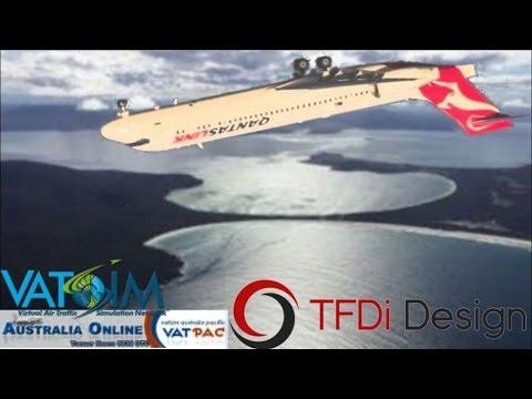 TFDi B717 on Vatsim. Australia Online YSSY - YMHB
