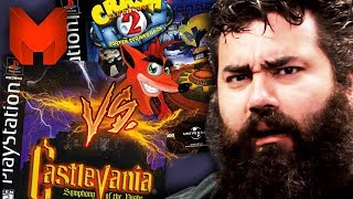 The BEST PS1 Games? Crash Bandicoot 2 vs Castlevania Symphony of the Night - Madness
