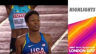 WCH London 2017 Highlights - 400m - Women - Final - Phyllis Francis wins!