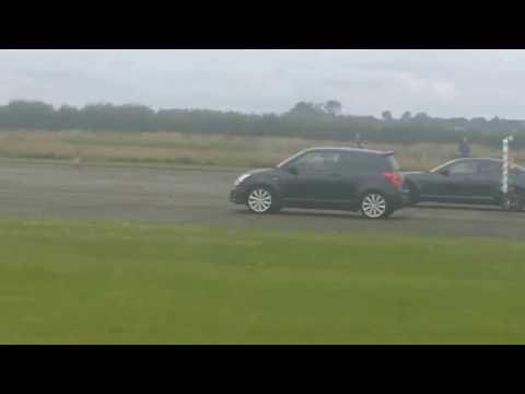 Suzuki Swift Sport vs Mazda RX8  Drag Race