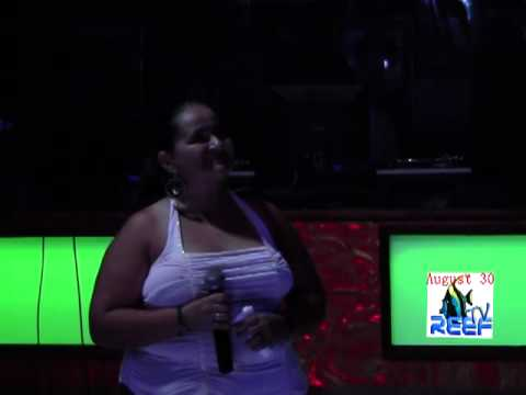 Karaoke Wk 4, pt 1, LIVE from Jaguar's Temple, (San Pedro, Belize).mp4