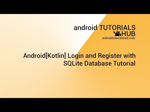Android[Kotlin] Login and Register with SQLite Database