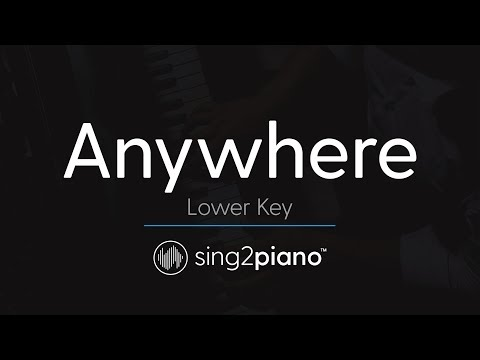 Anywhere (LOWER Piano Karaoke) Rita Ora