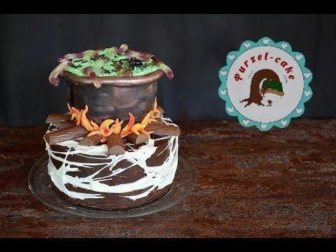 Hexenkessel Torte Halloween TorteMotivtortenvon Purzel