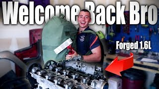 I built a FORGED Miata engine to surprise my Brother   Ep. 4 Cylinder head & Camshaft install