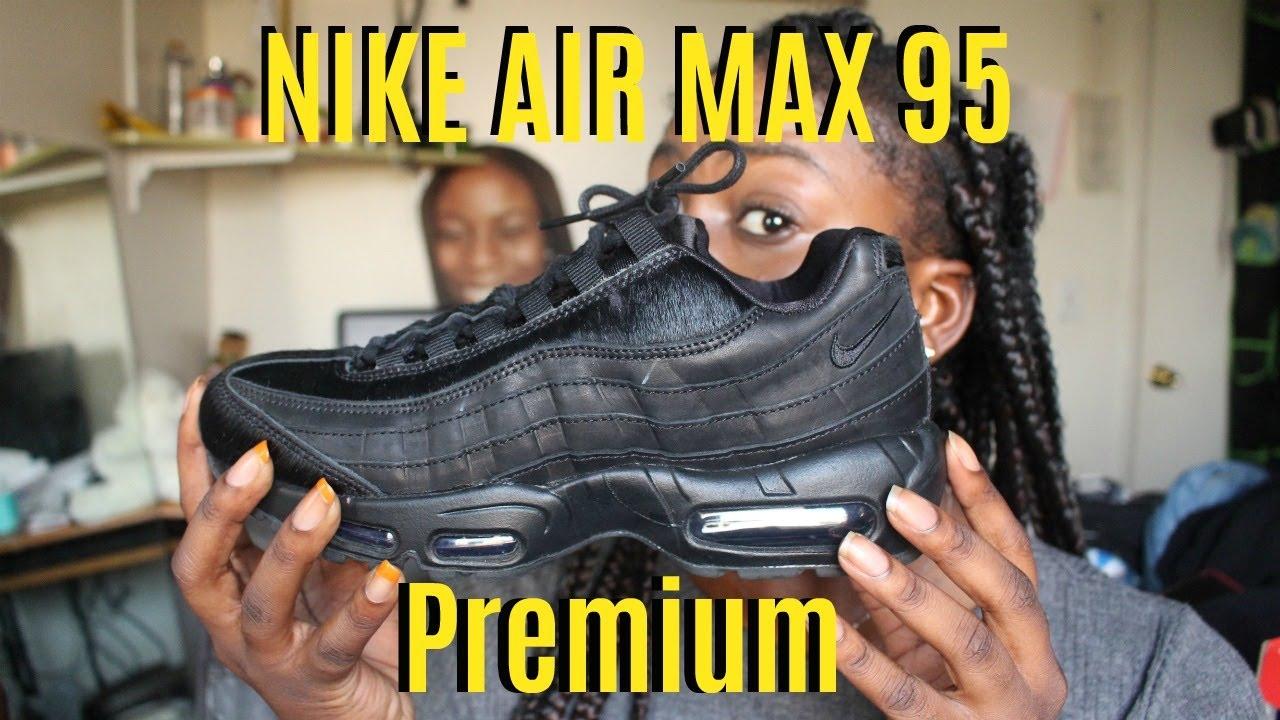 Air Max 95 Premium Triple Black Pony Hair Review - YouTube 5598d6fd99bb