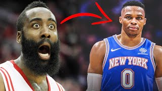 THE HOUSTON ROCKETS ARE TRADING RUSSELL WESTBROOK TO THE KNICKS? Acquiring Joel Embiid? (Rumor)