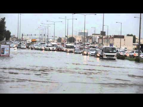 Rain flood in Al Hilal Doha Qatar