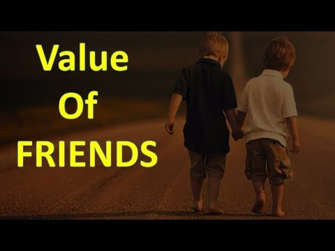 Value of Friends -- motivational video