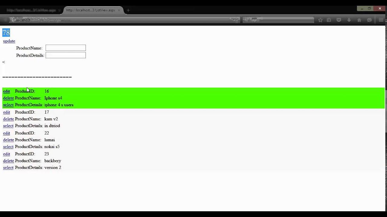 دورة قواعد بيانات للمبتدئين 17# العرض والجمع والتحديد بالمؤشر على   ListView