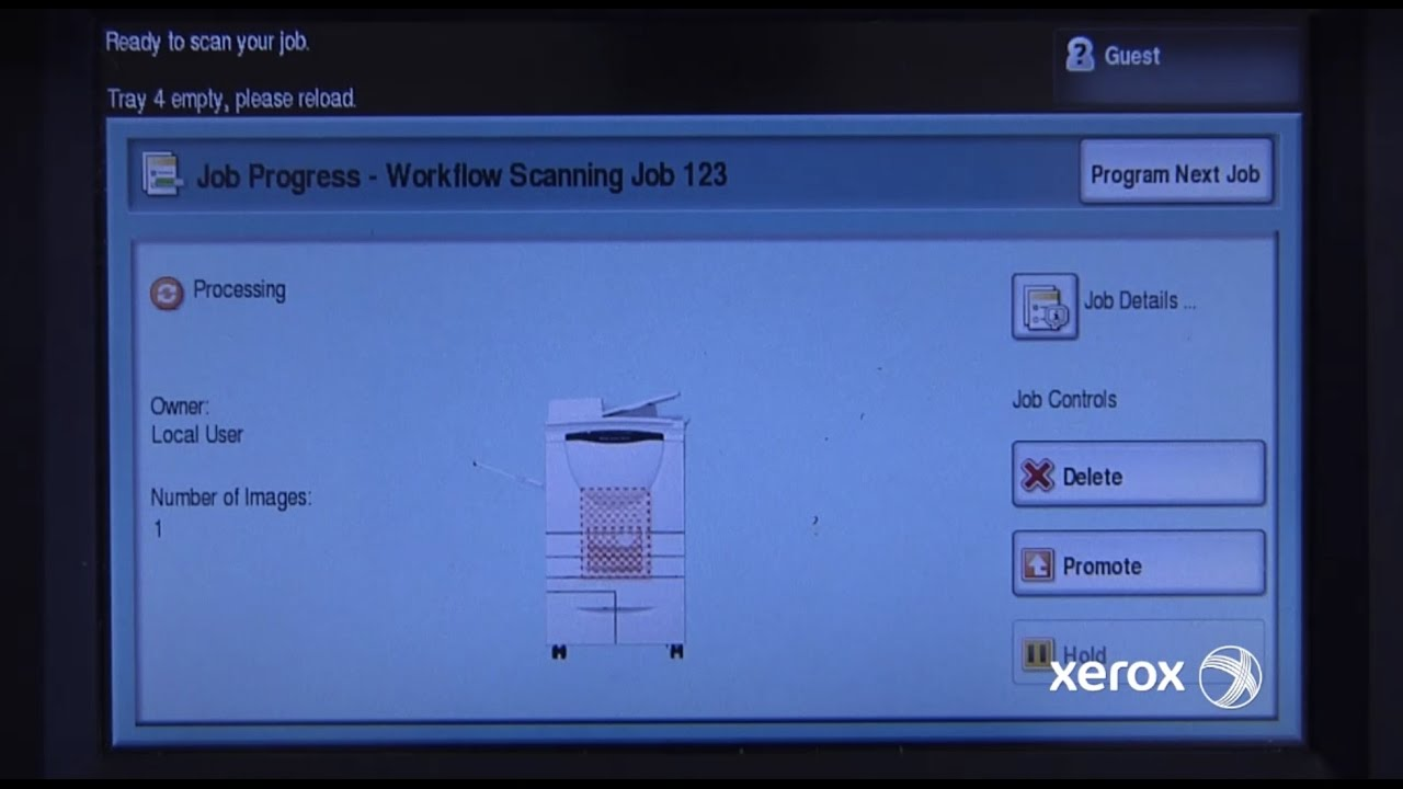 Scan to File: Xerox® WorkCentre® 5700 Series