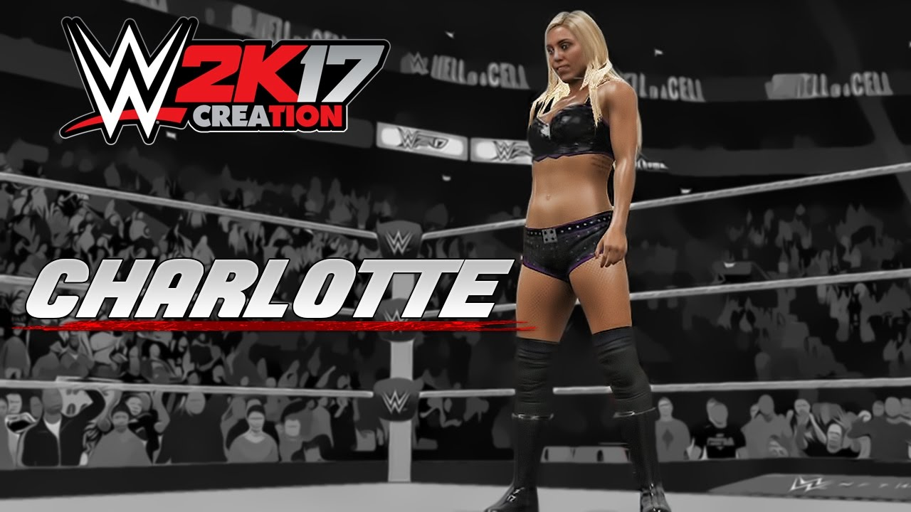 Wwe 2k17 Caw Creation Charlotte Youtube