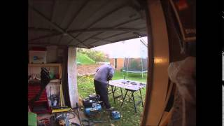 Folding 3mm Steel Plate Round A Wooden Table Top