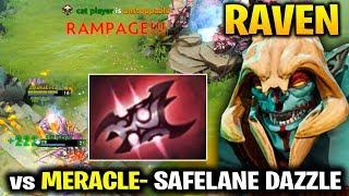 Raven RAMPAGE Huskar vs Meracle- Dazzle Safelane - Are you Serious?