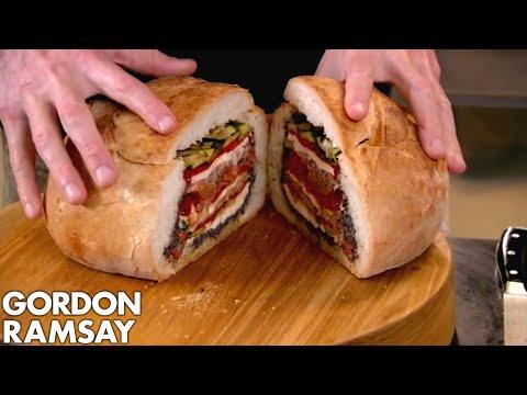 Pan Bagnat with Carrot, Cumin & Orange Salad | Gordon Ramsay