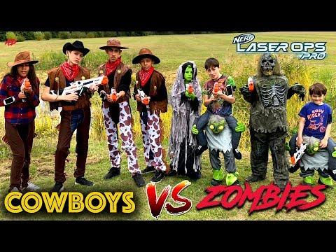 Cowboys Vs Zombies - Scary Nerf Movie