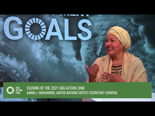Closing of the 2021 SDG Action Zone