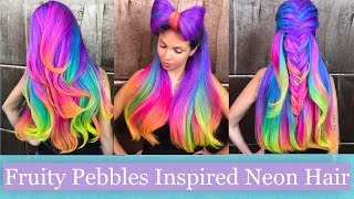 One of Guy Tang's most viewed videos: Fruity Pebbles-Inspired Neon Hair